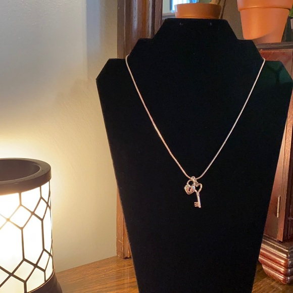 Premier Designs Jewelry - Premier Designs heart-shaped lock and key necklace